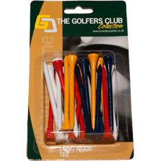 80MM THE GOLFERS CLUB TRÆ TEES FARVEDE BLANDEDE